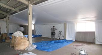 天井膜の施工例